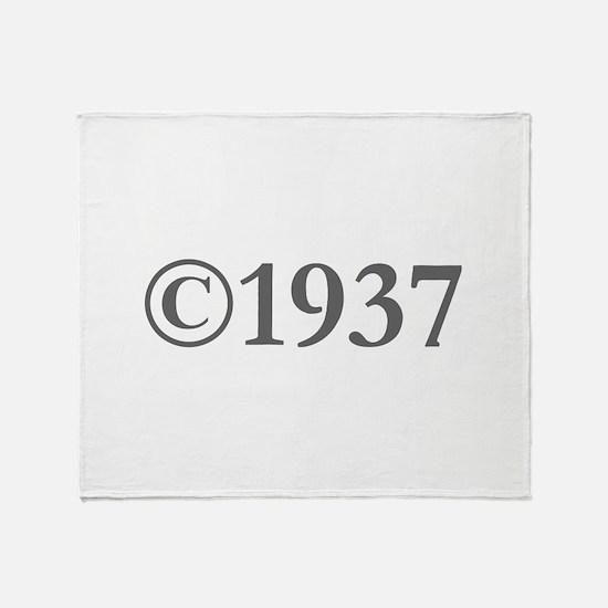 Copyright 1937-Gar gray Throw Blanket