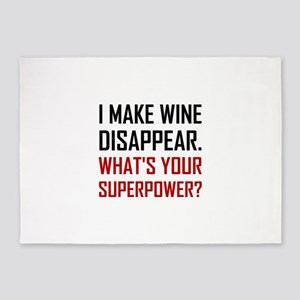 Wine Disappear Superpower 5'x7'Area Rug