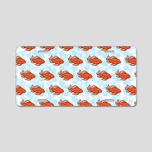 Goldfish Aluminum License Plate