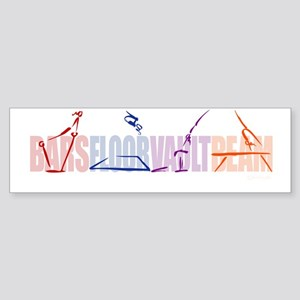 Gymnastic Events Bumper Sticker