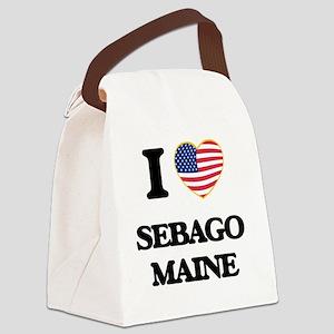 I love Sebago Maine Canvas Lunch Bag