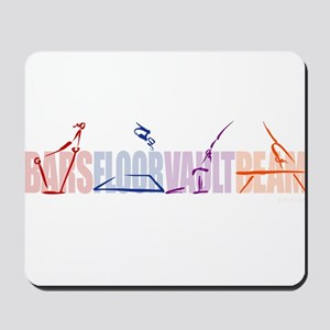 Gymnastic Events Mousepad