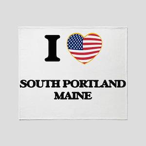 I love South Portland Maine Throw Blanket