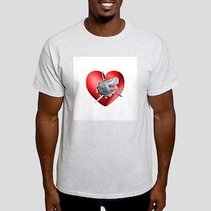 Shark Heart Burst Light T-Shirt