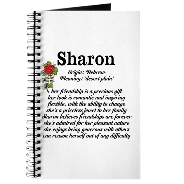 Sharon Name Meaning Design Journal By Inspirationstation