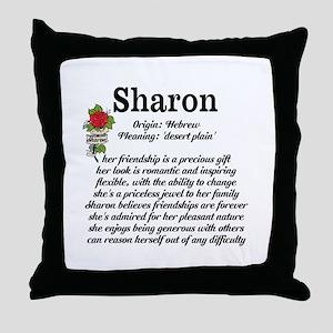 Sharon Name Meaning Design Throw Pillow