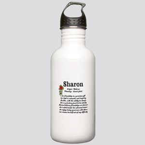 Sharon Name Meaning Design Water Bottle