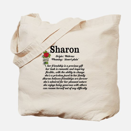 Sharon Name Meaning Design Tote Bag