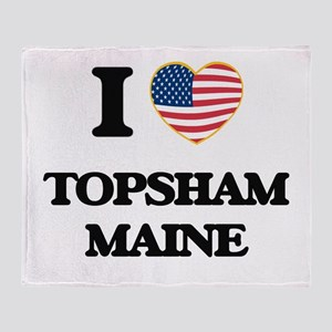 I love Topsham Maine Throw Blanket