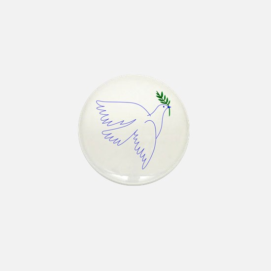 Dove Olive Branch Mini Button