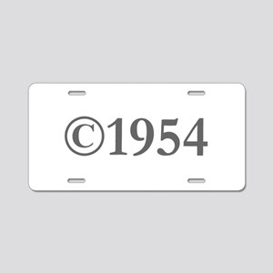Copyright 1954-Gar gray Aluminum License Plate