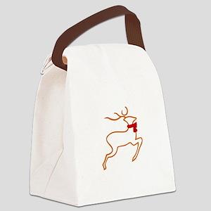 Reindeer Outline Canvas Lunch Bag