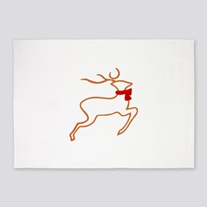 Reindeer Outline 5'x7'Area Rug