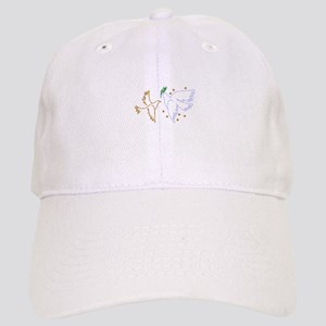 Two Doves with Stars Baseball Cap