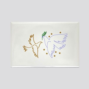 Two Doves with Stars Magnets
