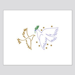 Two Doves with Stars Posters