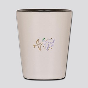 Two Doves with Stars Shot Glass