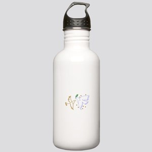 Two Doves with Stars Water Bottle