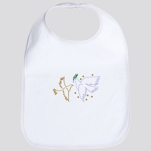Two Doves with Stars Bib