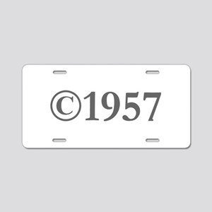 Copyright 1957-Gar gray Aluminum License Plate