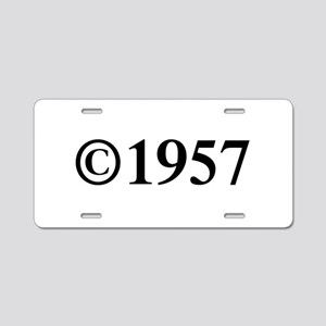 Copyright 1957-Tim black Aluminum License Plate