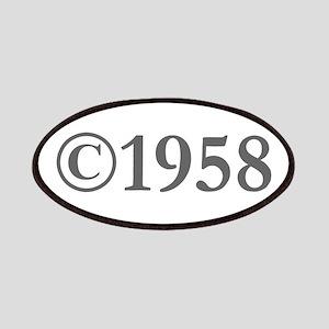 Copyright 1958-Gar gray Patch