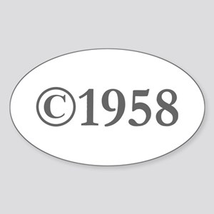 Copyright 1958-Gar gray Sticker