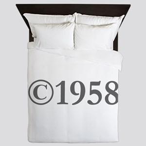 Copyright 1958-Gar gray Queen Duvet