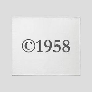 Copyright 1958-Gar gray Throw Blanket