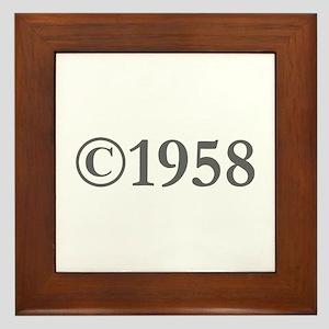 Copyright 1958-Gar gray Framed Tile