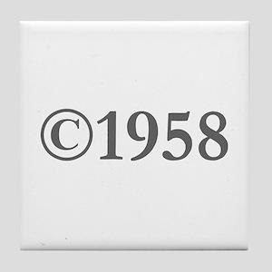 Copyright 1958-Gar gray Tile Coaster