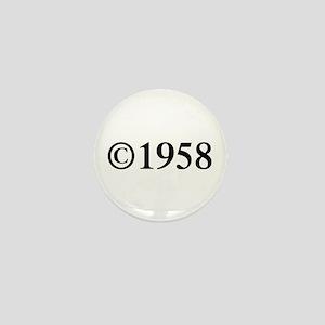 Copyright 1958-Tim black Mini Button