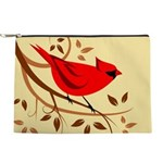 Red Cardinal Design Makeup Pouch