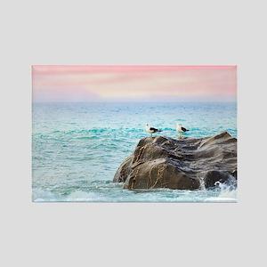 Seagulls at Sunrise Magnets