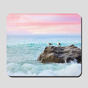 Seagulls at Sunrise Mousepad