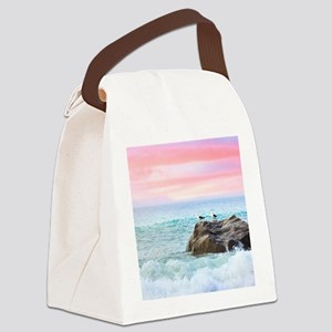 Seagulls at Sunrise Canvas Lunch Bag