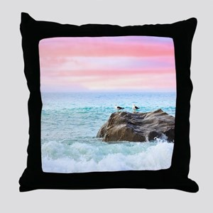 Seagulls at Sunrise Throw Pillow