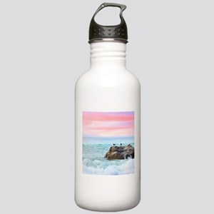 Seagulls at Sunrise Water Bottle
