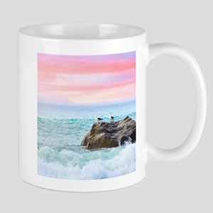 Seagulls at Sunrise Mugs
