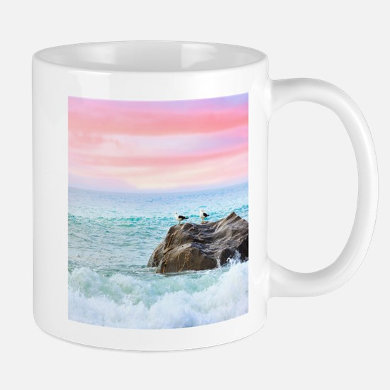 Seagulls at Sunrise Mugs