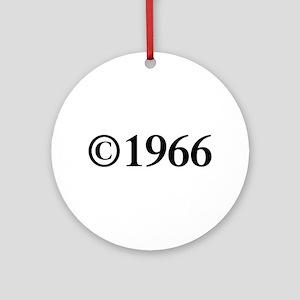 Copyright 1966-Tim black Ornament (Round)