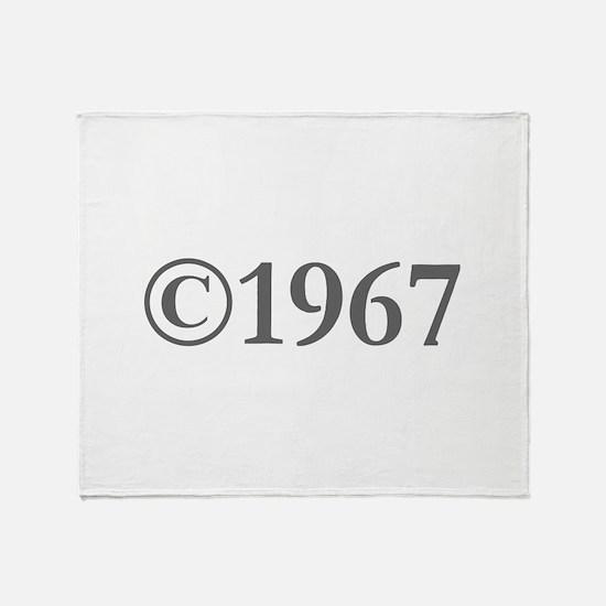 Copyright 1967-Gar gray Throw Blanket