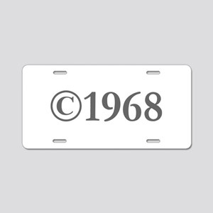Copyright 1968-Gar gray Aluminum License Plate