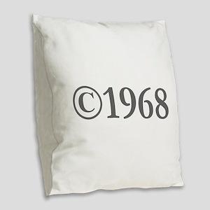 Copyright 1968-Gar gray Burlap Throw Pillow