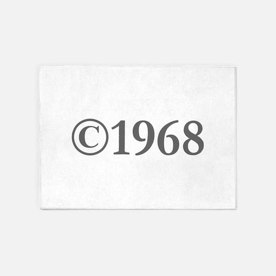 Copyright 1968-Gar gray 5'x7'Area Rug