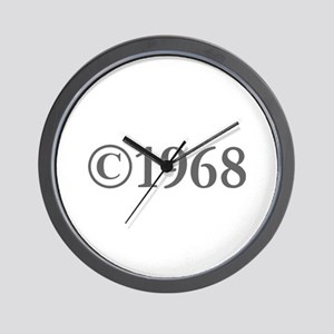 Copyright 1968-Gar gray Wall Clock