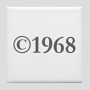 Copyright 1968-Gar gray Tile Coaster