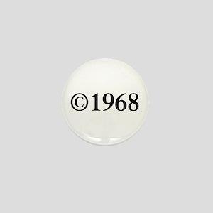 Copyright 1968-Tim black Mini Button