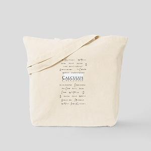 Calculus Equations Tote Bag
