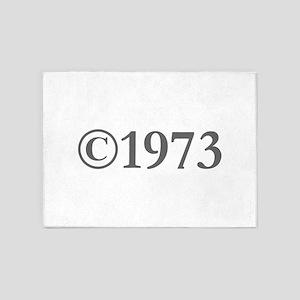 Copyright 1973-Gar gray 5'x7'Area Rug